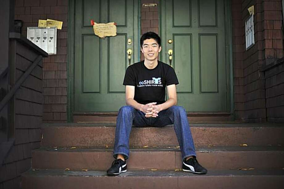 Raymond Lei, a 19-year-old sophomore at UC Berkeley started an online t-shirt business called ooShirts and poses at his apartment and near the UC Berkeley campus in Berkeley, Calif., on Wednesday, August 25, 2010. Photo: Chad Ziemendorf, The Chronicle