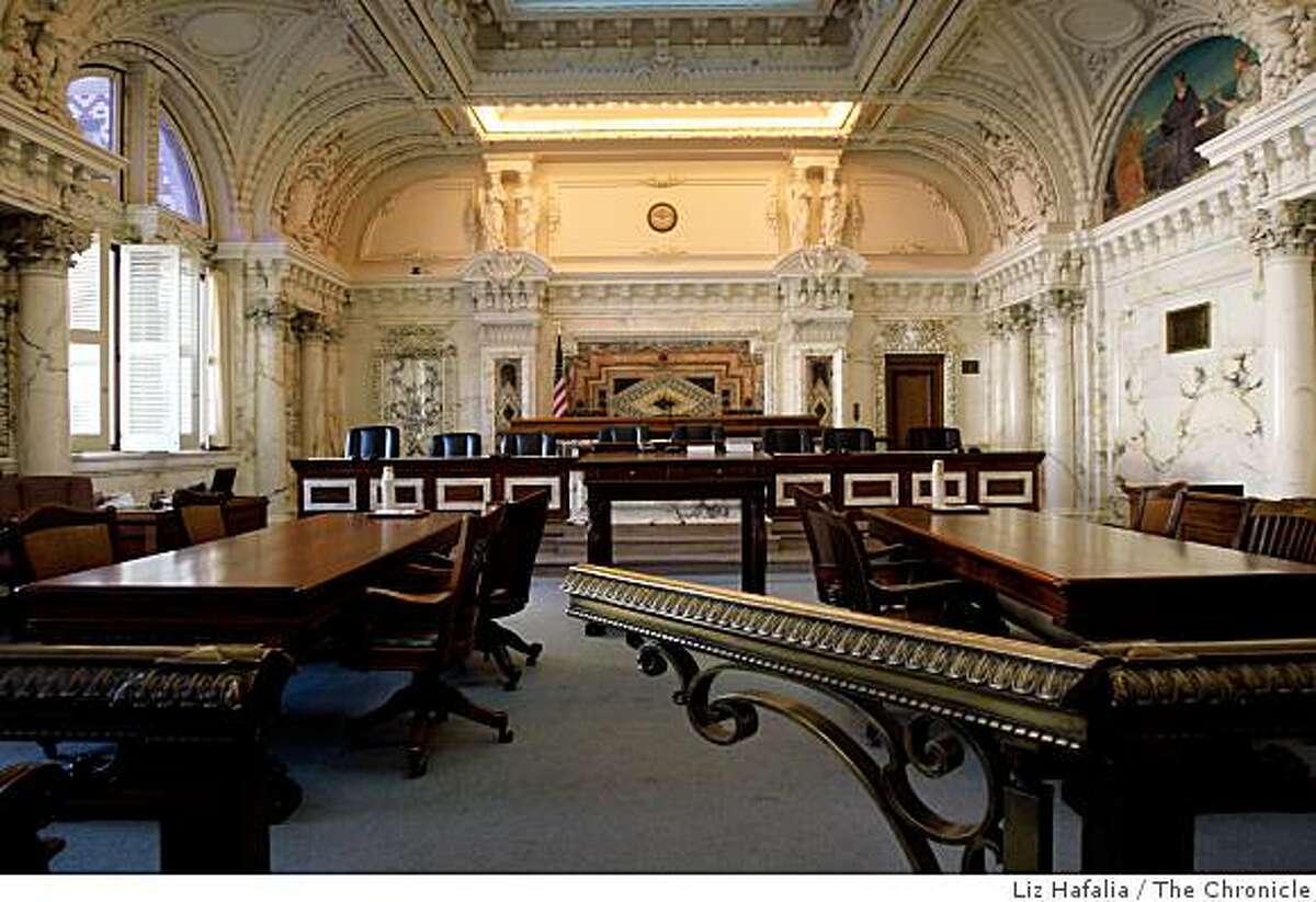 Courtroom One of the 1905 U.S. Court of Appeals building at the intersection of 7th and Mission streets in San Francisco, Calif., on Friday, January 9, 2009.