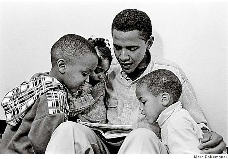 Barack Obama reading to young kids during 1995 IL Statr Senate campaign - his first run for public office. / FOR ONE-TIME USE ONLY!!!!!! http://www.pokempner.net� Marc PoKempner Photo: Marc PoKempner
