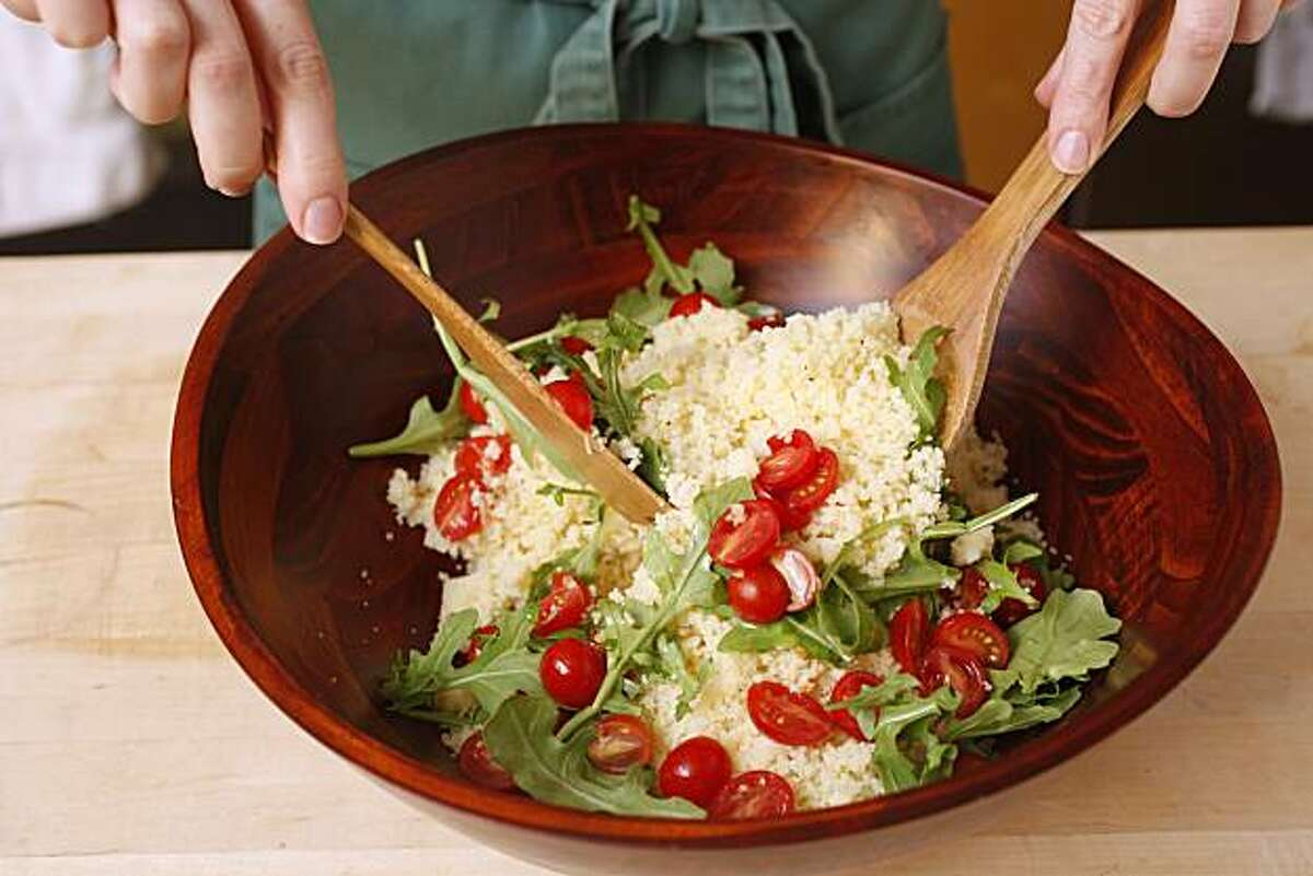 Farro Salad in San Francisco, Calif., on August 25, 2010. Food styled by Natalie Knight.