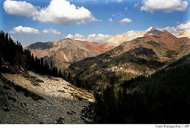 The Mineral King Valley is seen on the trail to Eagle Lake in this undated photo near Mineral King, Calif. (AP Photo/Los Angeles Times, Vani Rangachar) ** MANDATORY CREDIT ** Photo: Vani Rangachar, AP