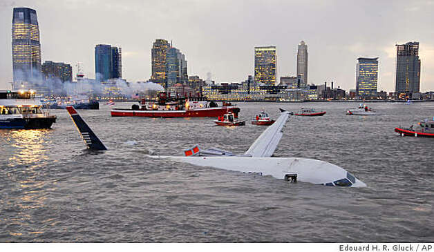 An Airbus 320 US Airways aircraft that went down in the Hudson River is seen in New York, Thursday, Jan. 15, 2009. (AP Photo/Edouard H. R. Gluck) Photo: Edouard H. R. Gluck, AP