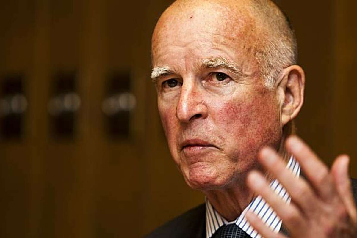Jerry Brown, Democratic nominee for Governor of California, met with The San Francisco Chronicle's Editorial Board on Friday, Sept. 3, 2010.