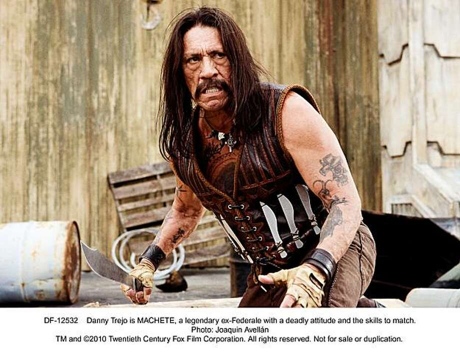 "Danny Trejo is MACHETE, a legendary ex-Federale with a deadly attitude and the skills to match, stars in, ""Machete."" Photo: Joaquin Avell‡n, Twentieth Century Fox"