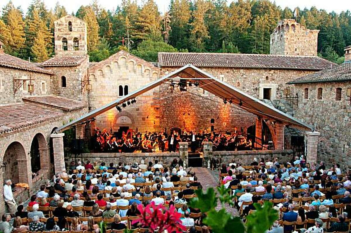 Napa Valley's Festival del Sole, a summer classic music festival, celebrated its fifth anniversay in July 2010. Here, a concert at Castello di Amarosa.