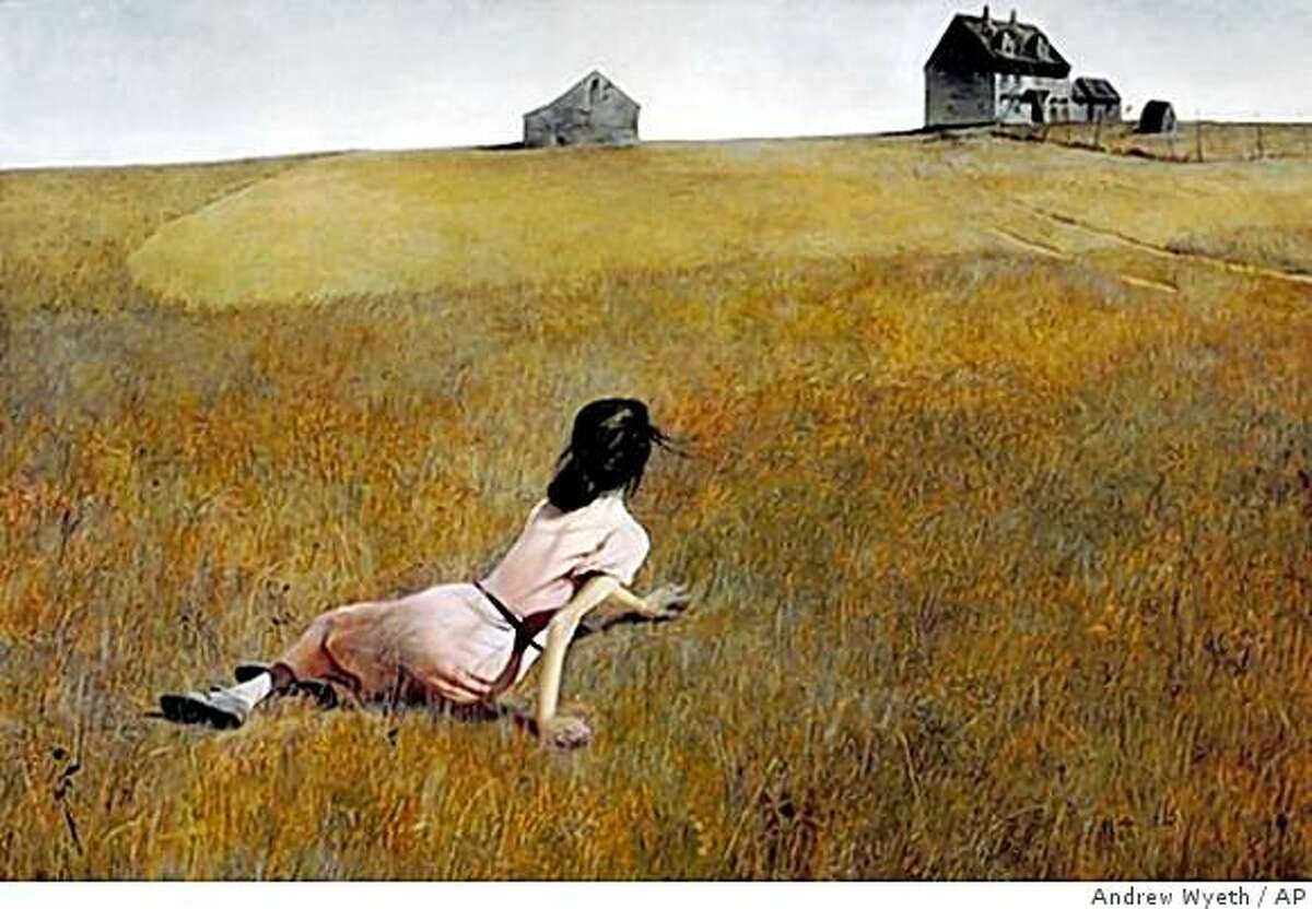 """In this image released by the Brandywine River Museum, the painting, """"Christina's World,"""" by Andrew Wyeth, is shown. Wyeth died Friday at the age of 91 at his home outside Philadelphia according to Hillary Holland, a spokeswoman for the Brandywine River Museum. (AP Photo/Andrew Wyeth Collection, The Museum of Modern Art, New York. Purchase) ** NO SALES **"""
