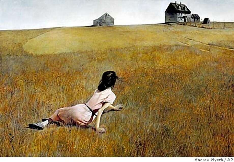 """In this image released by the Brandywine River Museum, the painting, """"Christina's World,"""" by Andrew Wyeth, is shown. Wyeth died Friday at the age of 91 at his home outside Philadelphia according to Hillary Holland, a spokeswoman for the Brandywine River Museum. (AP Photo/Andrew Wyeth Collection, The Museum of Modern Art, New York. Purchase) ** NO SALES ** Photo: Andrew Wyeth, AP"""