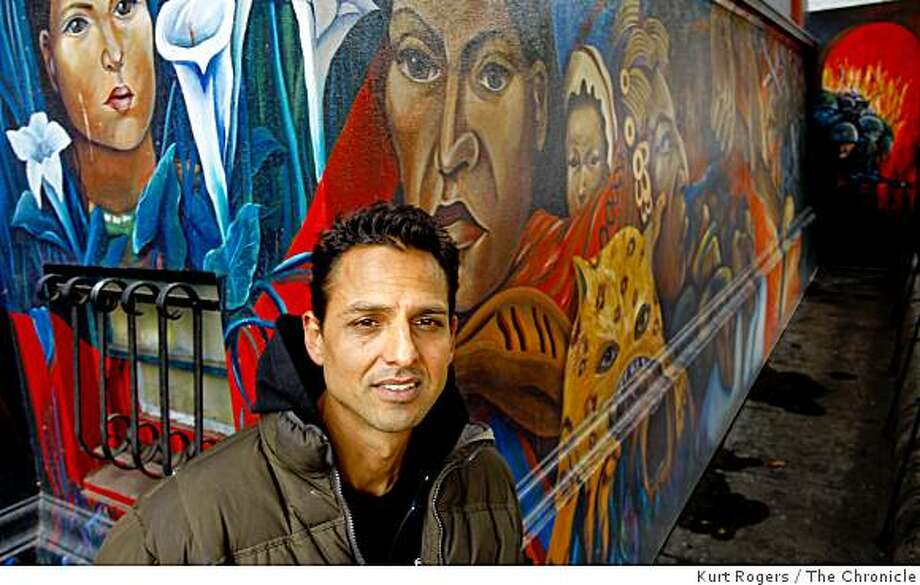 """Peter Bratt who's new movie """"La Mission"""" is going to appear at the Sundance Film Festival. He is at St. Peter's Church in the Mission where the opening seine was shot on Thursday  Jan 8,  2009 in San Francisco , Calif. Photo: Kurt Rogers, The Chronicle"""