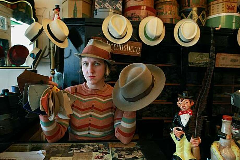 A beaverfelt fedora made by Paul's Hatworks in San Francisco, Calif., on Tuesday, August 17, 2010. Photo: Liz Hafalia, The Chronicle
