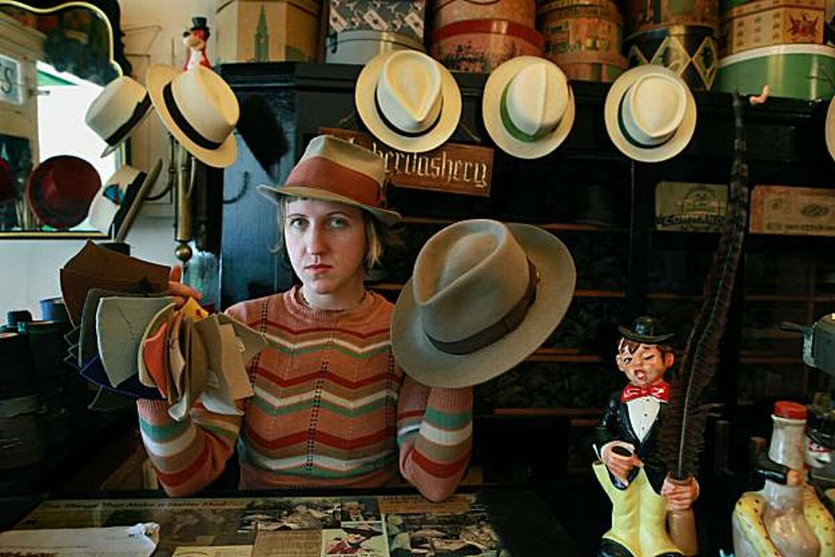 A beaverfelt fedora made by Paul's Hatworks in San Francisco, Calif., on Tuesday, August 17, 2010.