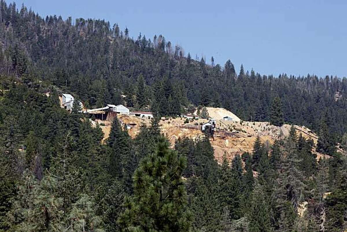 The Richmond Mill building dominates a hillside at Iron Mountain Mine east of Redding Ca Friday August 20, 2010.