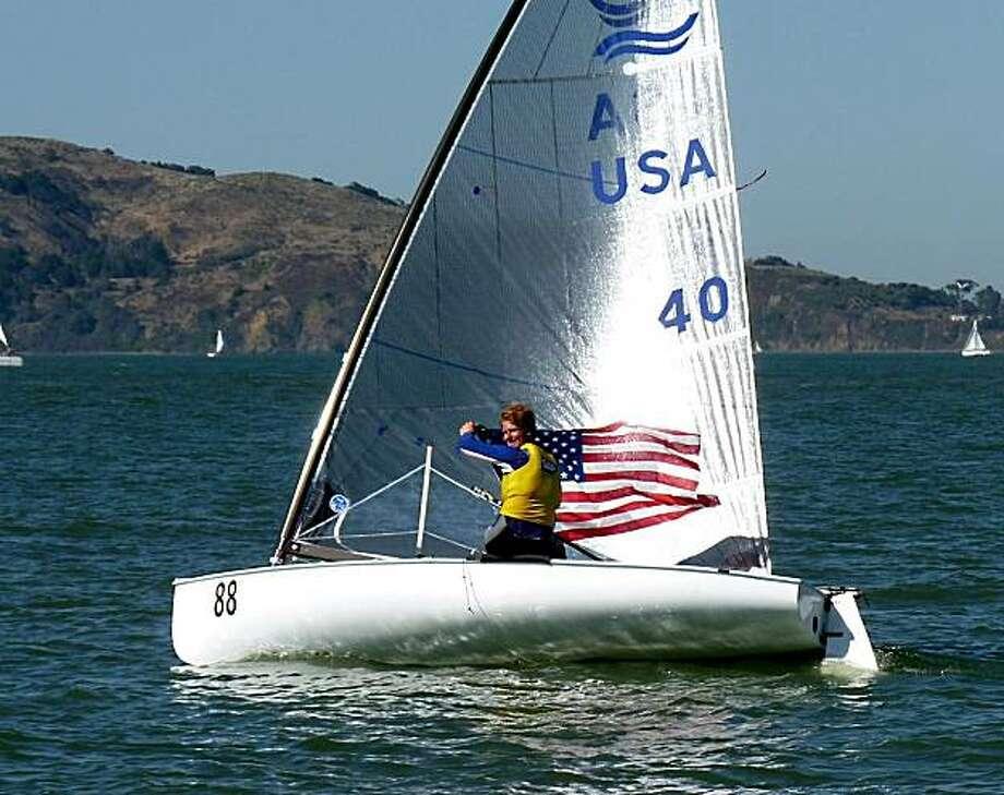 Finn sailboats go for gold on San Francisco Bay - SFGate