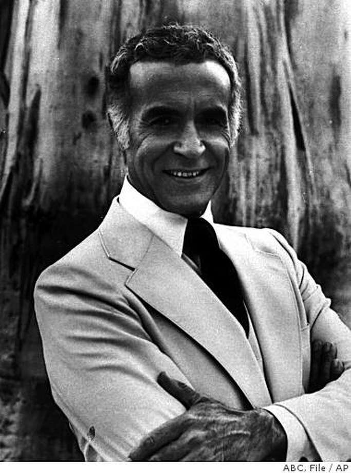 "** FILE ** In this 1977 file image originally released by ABC, actor Ricardo Montalban is shown in character on ""Fantasy Island."" The Mexican-born actor, who became a star in splashy MGM musicals and later the wish-fulfilling Mr. Roarke in TV's ""Fantasy Island,"" died at his home in Los Angeles, City Council President Eric Garcetti said Wednesday, Jan. 14, 2009.  He was 88. (AP Photo/ABC, file) ** NO SALES ** Photo: ABC, File, AP"