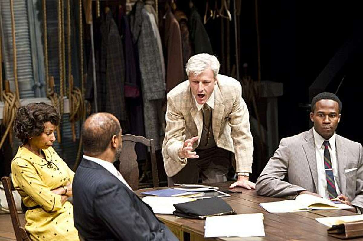 """Tim Kniffin (center) plays the part of Al Manners while performing """"Trouble in Mind"""" by Alice Childress at the Aurora Theatre Company in Berkeley, Calif. on Tuesday, August 24, 2010."""