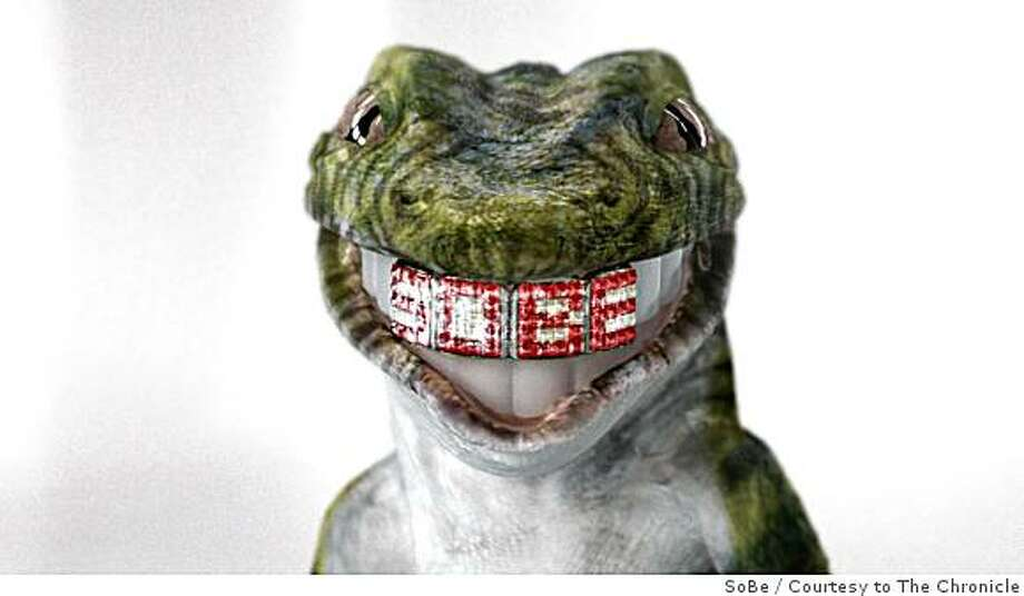 The SoBe Lifewater Lizards are featured in a Super Bowl commercial that is a collaboration between DreamWorks, PepsiCo and Intel. Photo: SoBe, Courtesy To The Chronicle