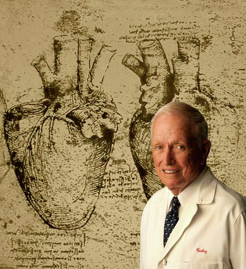 Dr. Denton Cooley, founder of the Texas Heart Institute at St. Luke's Episcopal Hospital Photo: Robert Seale / Freelance