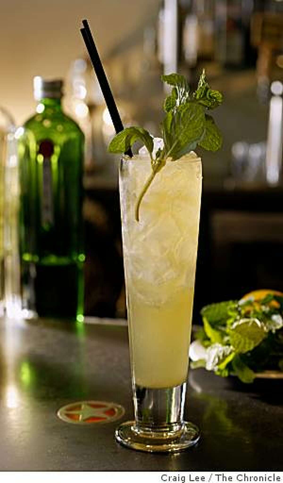 A cocktail drink, called Strange Brew, where beer is one of the ingredients at Range restaurant in San Francisco, Calif., on January 7, 2009.