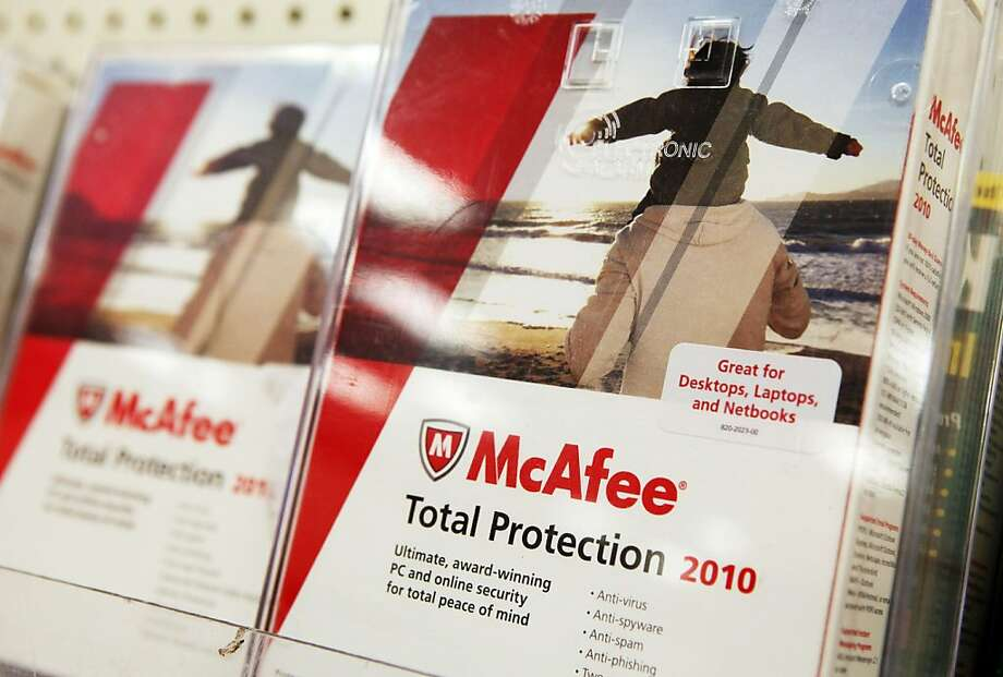 COLMA, CA - AUGUST 19:  Boxes of McAfee security software are displayed on a shelf at a Target store August 19, 2010 in Colma, California. Intel announed today that it plans to buy security software maker McAfee for a reported $7.68 billion. Photo: Justin Sullivan, Getty Images