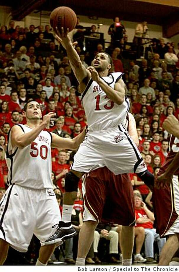St. Mary's Gaels Patrick Mills goes up for the shot in the first half of their game against the Santa Clara Broncos at St. Mary's College in Moraga Calif., Friday, January 9, 2009. Photo: Bob Larson, Special To The Chronicle