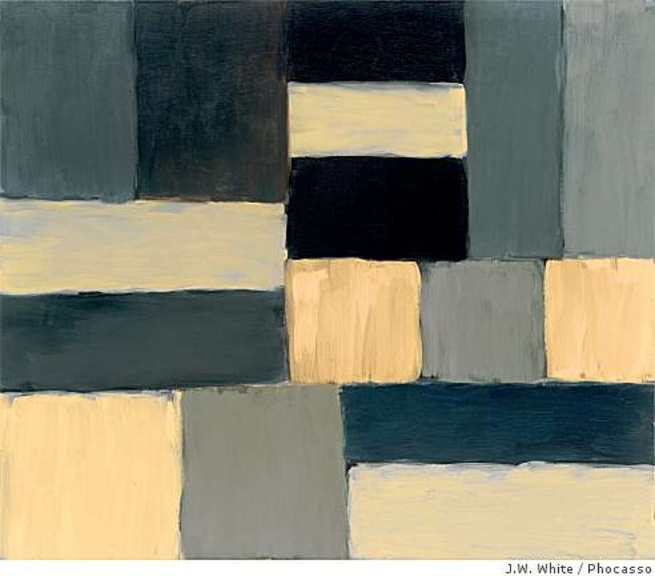 """Barcelona Black Bar 4.07"" (2007) oil on linen by Sean Scully Photo: J.W. White, Phocasso"