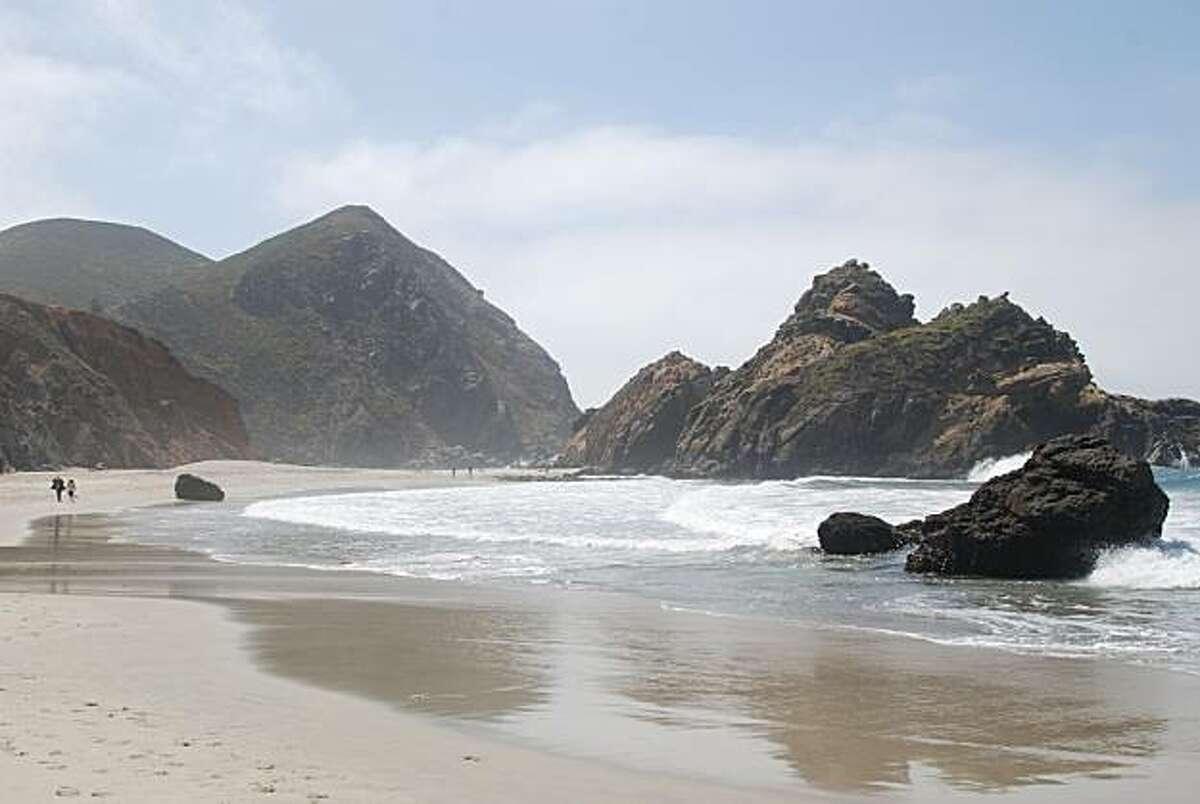 Th rugged, rocky coastline of Pfeiffer Beach.