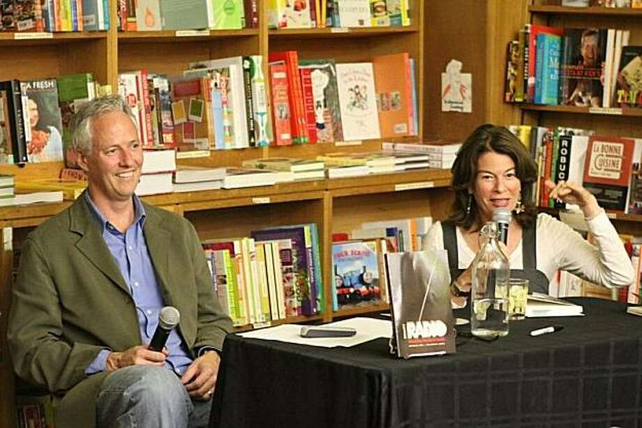 John Biewen and Davia Nelson talk about ?Reality Radio? at The Booksmith.  Photo by Christin Evans Photo: Christin Evans
