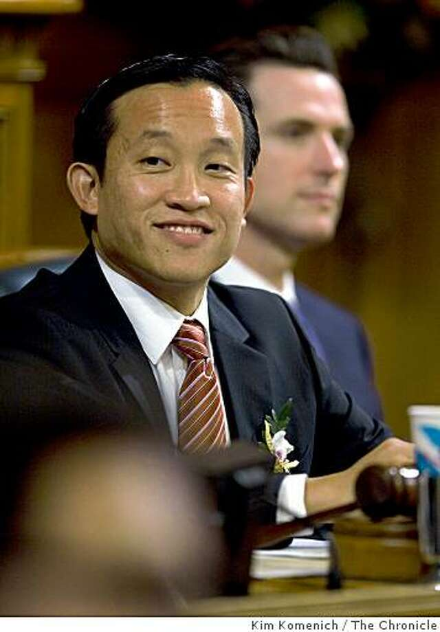 Supervisor David Chiu is elected president of the San Francisco Board of Supervisors in the board's San Francisco, Calif., chambers on Thursday Jan. 8, 2009. Photo: Kim Komenich, The Chronicle