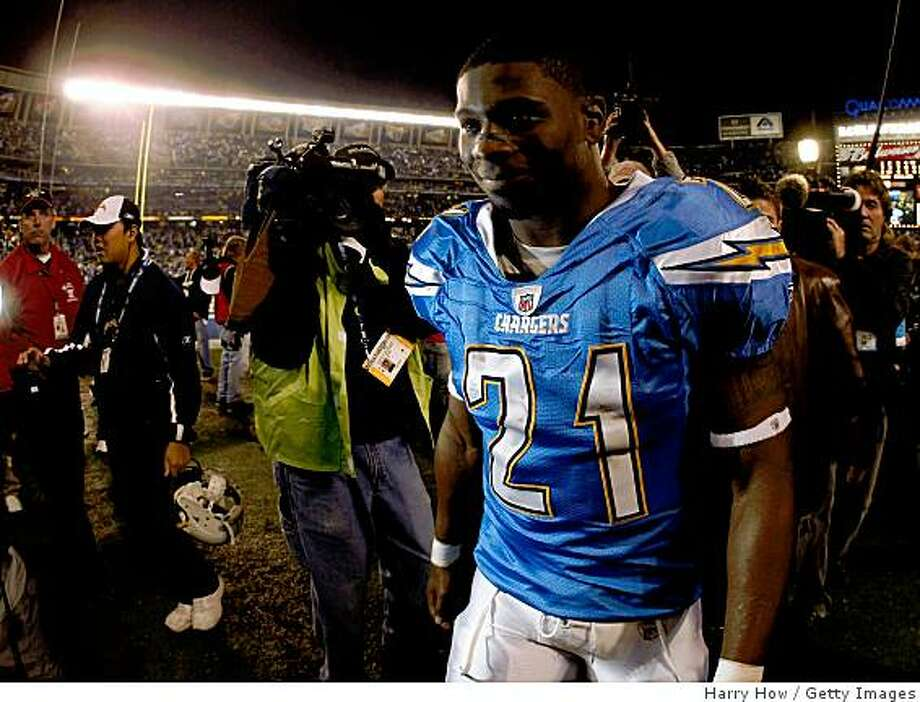 San Diego running back LaDainian Tomlinson walks off the field after defeating the Indianapolis Colts in overtime in the AFC Wild Card Game on January 3, 2009 at Qualcomm Stadium in San Diego, California. Photo: Harry How, Getty Images