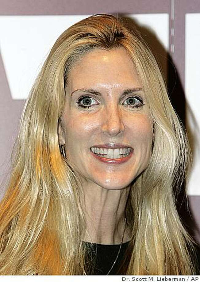 ** FILE ** In this Nov. 17, 2005 file photo, conservative political commentator Ann Coulter is seen in Tyler, Texas. (AP Photo/Dr. Scott M. Lieberman, file) Photo: Dr. Scott M. Lieberman, AP