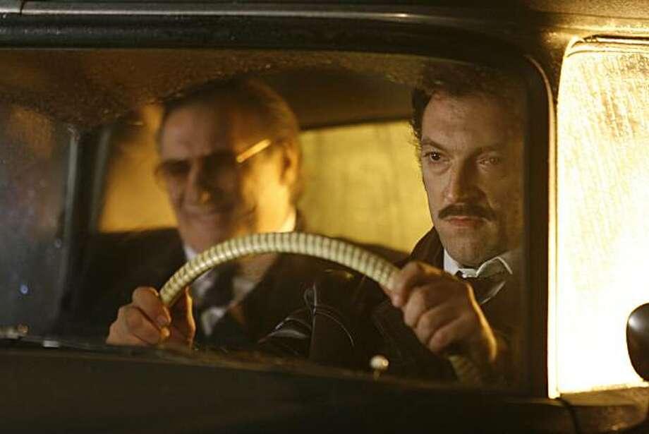 "Jacques Mesrine (Vincent Cassel) and Guido (G?rard Depardieu) in Jean-Francois Richet's ""Mesrine: Killer Instinct"" (2008). Photo: Music Box Films"