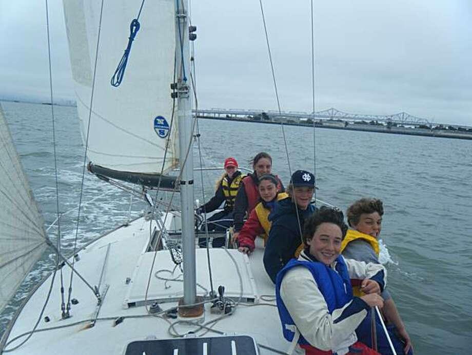 Treasure Island Fun Sail program participants. Photo: Treasure Island Sailing Center