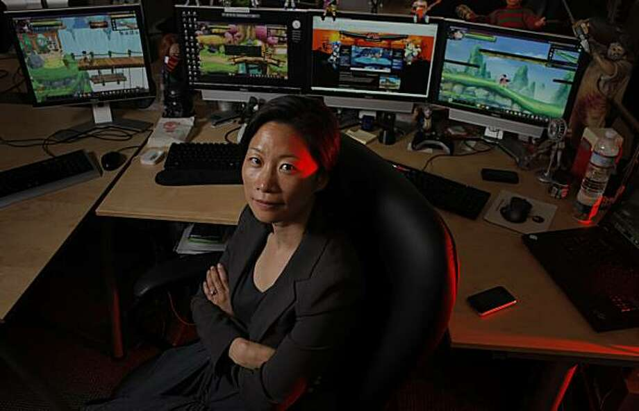 Susan Choe, creator of Outspark, an online gaming publisher at her office, Tuesday August 10, 2010, in San Francisco, Calif. Outspark, a three year old company, lets players try games for free and makes money when they purchase virtual items for their online characters. Photo: Atkins, Lacy, THE CHRONICLE