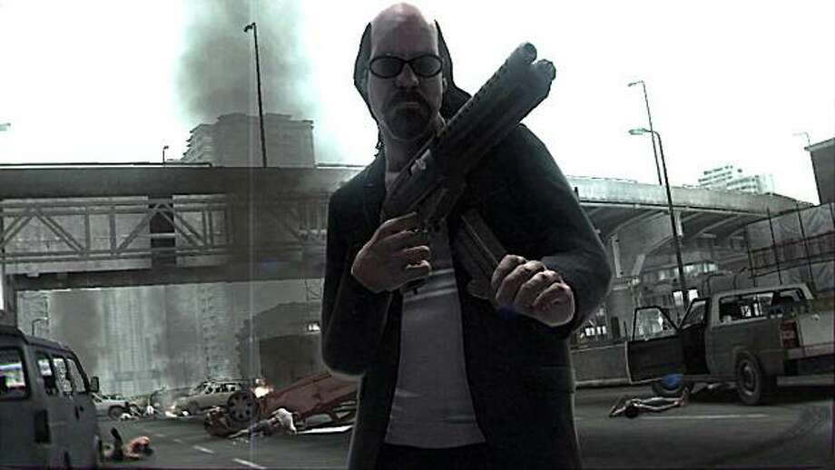 """LIke its predecessor, Kane & Lynch 2: Dog Days takes stylistic cues from the crime films of Michael Mann, including Lynch, who bears an uncanny resemblance to the character of Waingro in """"Heat."""" Photo: Square Enix"""