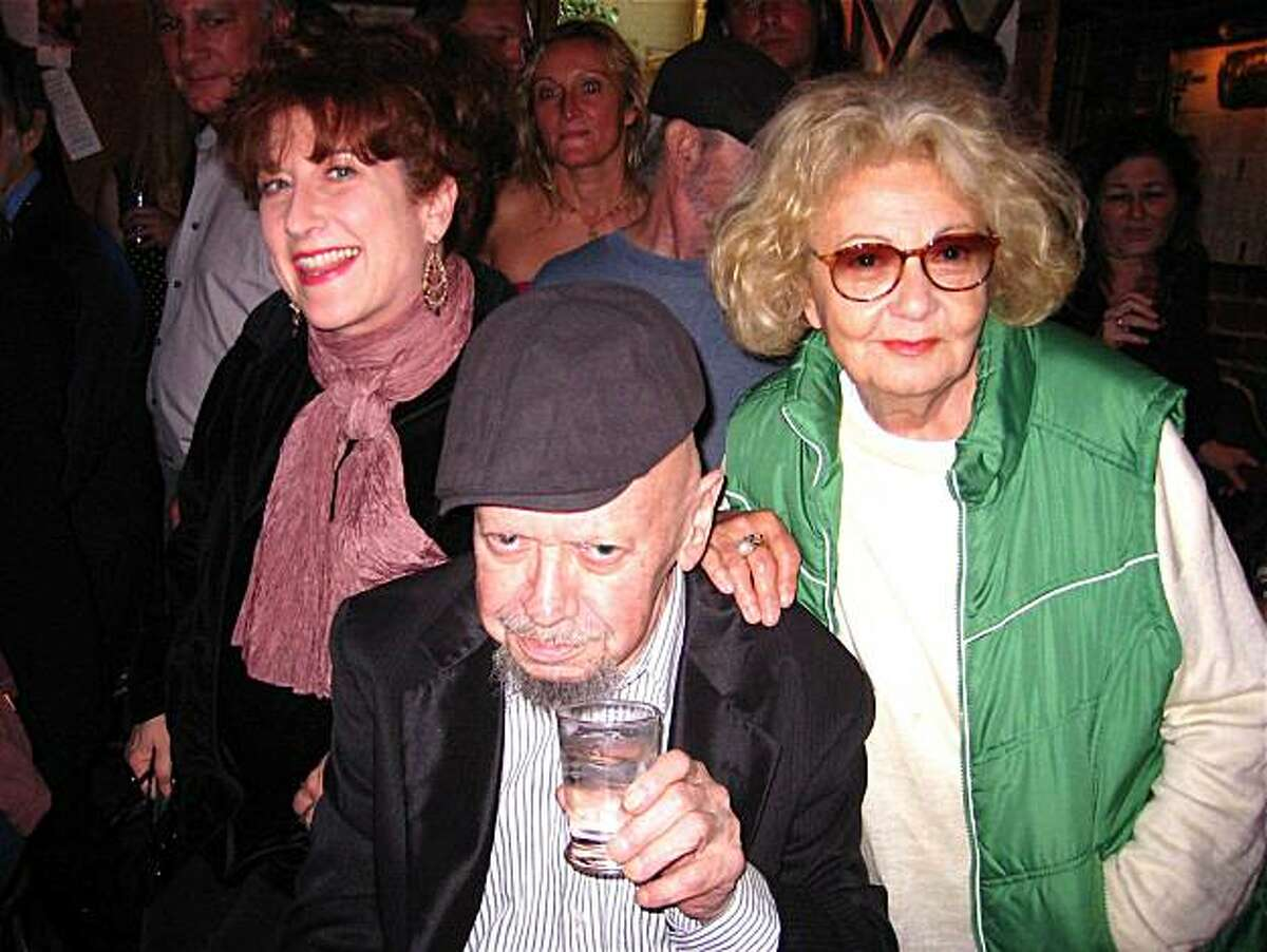 Kitty Margolis (left) with Specs Simmons and Jeannette Etheredge at his 82nd birthday party in North Beach. August 2010. By Catherine Bigelow