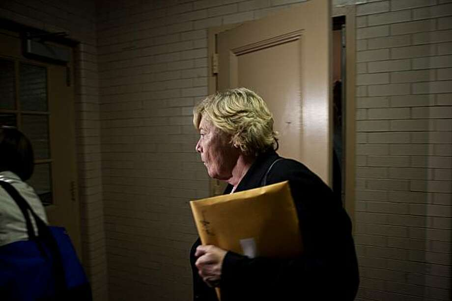 Rep. Zoe Lofgren, D-Calif., Chair of the Committee on Standards of Official Conduct, leaves the committee room on Capitol Hill in Washington, Thursday, July 29, 2010. Photo: Drew Angerer, AP