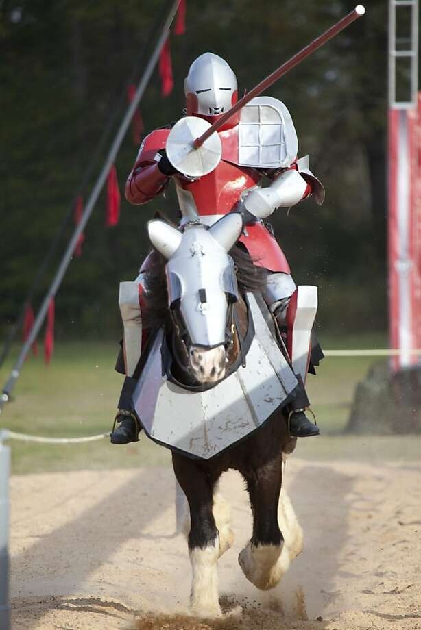 "A scene from the championship battle is seen from, ""Full Metal Jousting,"" on The History Channel. Photo: Zach Dilgard, The History Channel"
