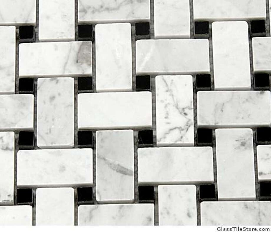 Trenza Marble Mosaic is one of the tile mosaic options available from GlassTileStore.com Photo: GlassTileStore.com