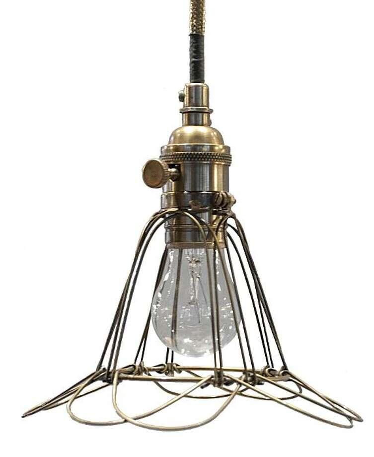 Workshop cage light from Jayson Home & Garden. Photo: Jayson Home & Garden