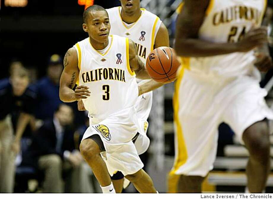 Cal's guard Jerome Randle drives the ball down court during a fast break in their exhibition opener with Seattle Pacific in Berkeley Thursday November 6, 2008 Photo: Lance Iversen, The Chronicle