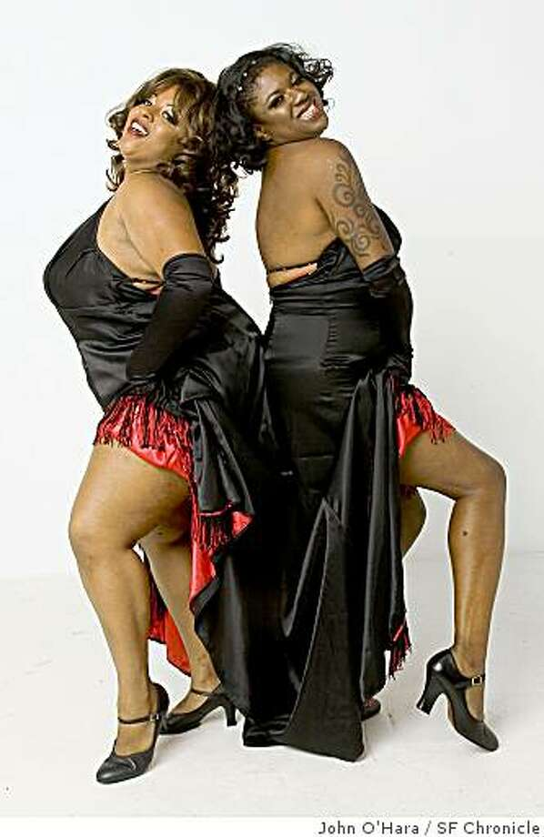 Alotta Boutte, left, shown here with Simone De La Getto at a 2006 burlesque convention , will be teaching a class on burlesque dance moves. Photo: John O'Hara, SF Chronicle