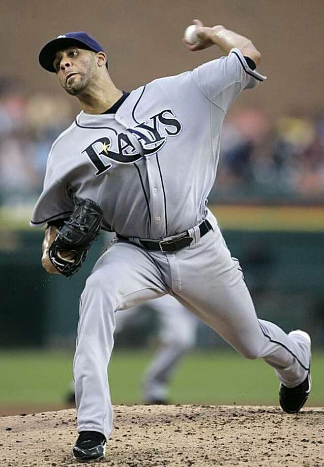 Tampa Bay Rays starter David Price pitches against the Detroit Tigers in the second inning of a baseball game Monday, Aug. 9, 2010 in Detroit. Photo: Duane Burleson, AP