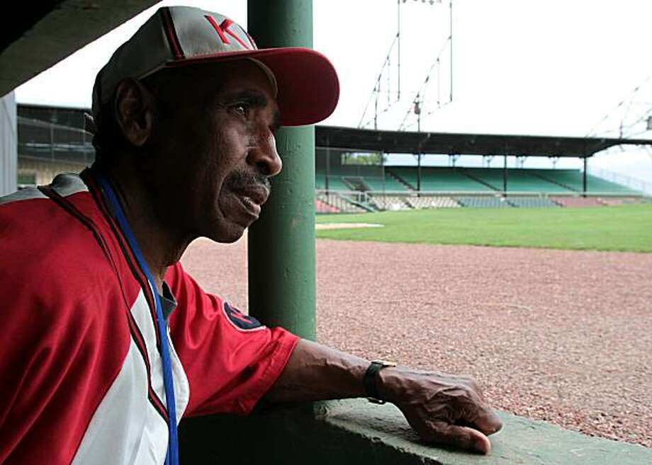 Former baseball player Samuel Allen a member of the Negro Leagues Marker Project visits Rickwood Field on Friday, July 16, 2010, in Birmingham, Ala. Photo: Butch Dill, AP