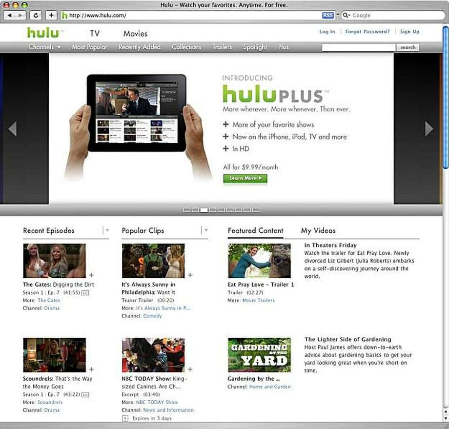 screenshot of hulu.com Photo: Hulu.com
