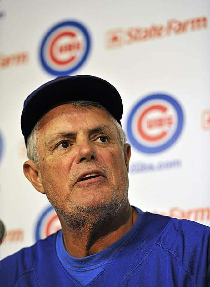 Chicago Cubs manager Lou Piniella announces that he will retire from coaching at the end of this season during a baseball news conference at Wrigley Field on Tuesday, July 20, 2010, in Chicago. Photo: Jim Prisching, AP