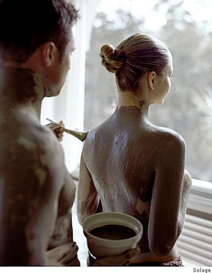 At Solage, guests apply mud to themselves or their friends, rather than sitting in a tub of the stuff Photo: Solage, Solage