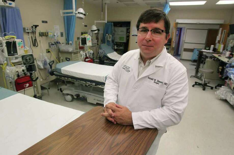 Dr. Ronald Stewart, chairman of surgery at the University of Texas Health Science Center, has been an advocate for better care for stroke victims in San Antonio for years. Stewart recently suffered a stroke before Christmas and was rushed to University Hospital where he got a clot-busting drug that may have saved his life. Photo: SAN ANTONIO EXPRESS-NEWS