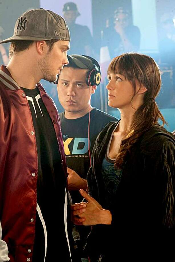 "Rick Malambri, from left, Jon Chu and Sharni Vinsonare shown in Summit Entertainment's new movie, ""Step up 3D"". (John Bramley/Summit Entertainment/MCT) Photo: John Bramley"