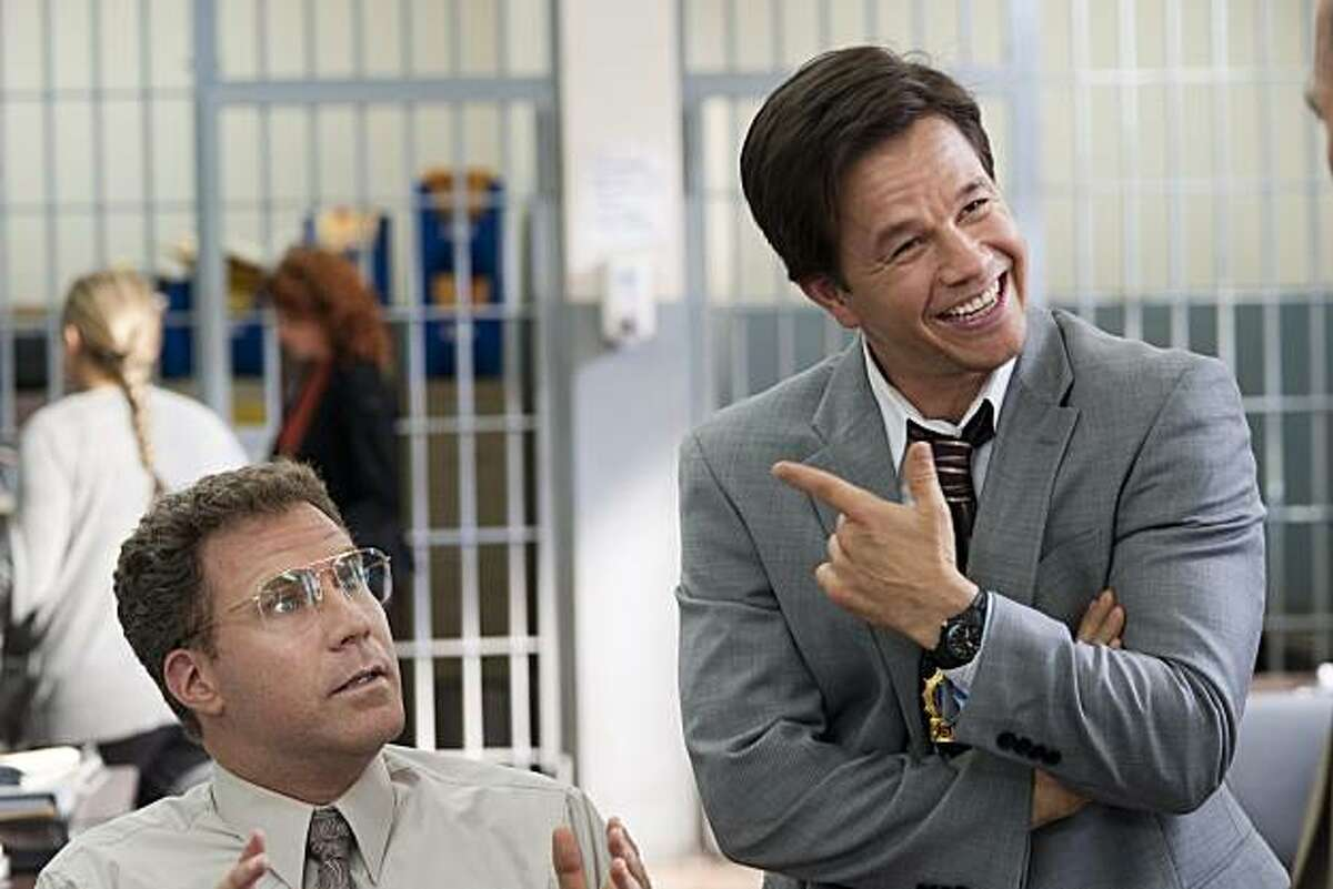 Will Ferrell, left, and Mark Wahlberg in Columbia Pictures' comedy
