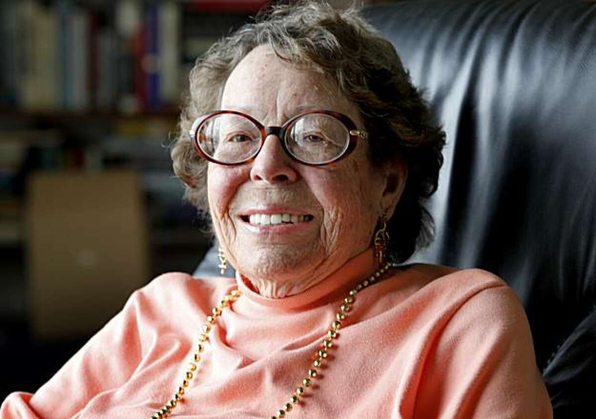 Phyllis Lyon smiles as she looks out the large window in her front room. Lyon, who along with her late partner Del Martin, were the first gay couple to marry in California. They married in 2004 at San Francisco City Hall and again in 2008 when the California Supreme Court legalized gay marriage.