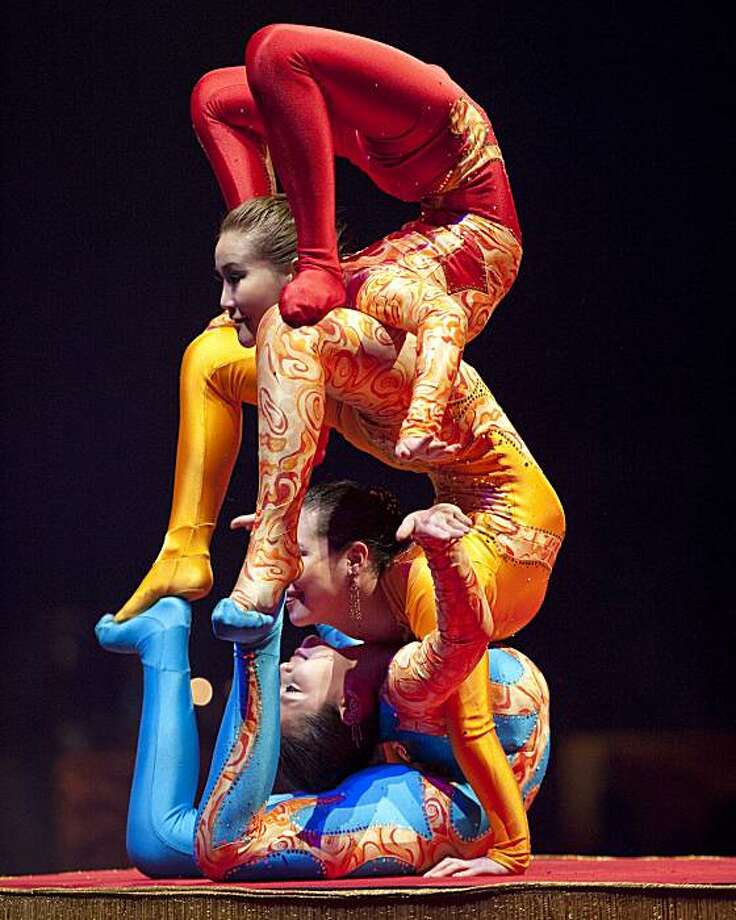 """The Balancing Body Benders are part of the 140th edition of Ringling Bros. and Barnum & Bailey Circus, """"Barnum's FUNundrum,"""" coming to the Bay Area Aug. 11. Photo: Ringling Bros."""